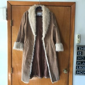 Wilson's Leather Vintage Boho Suede Coat.